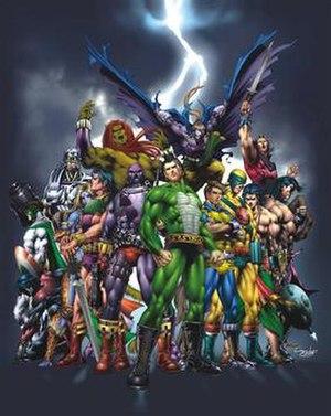 Raj Comics - Heroes of Raj Comics Drawn by Lalit Singh, color by Pradeep Sherawat
