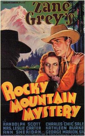 Rocky Mountain Mystery - Image: Rocky Mountain Mystery 1935 Poster