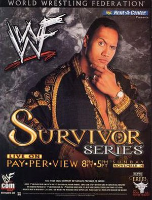 Survivor Series (1999) - Promotional poster featuring The Rock