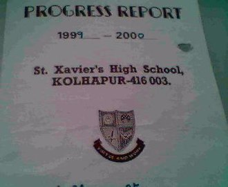 St. Xavier's School, Kolhapur -  School emblem as it appears on a progress report card