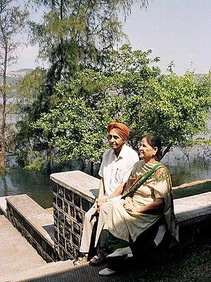 Sukhbir (writer) - Sukhbir with Jasbir Kaur