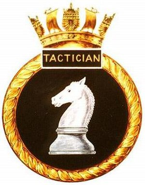 HMS Tactician (P314) - Image: TACTICIAN badge 1