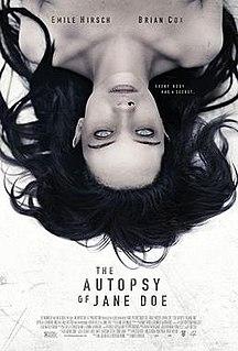 <i>The Autopsy of Jane Doe</i> 2016 film by André Øvredal