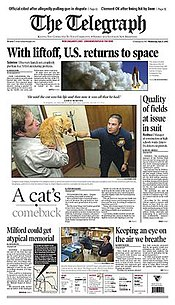 The Telegraph (Nashua, New Hampshire) front page.jpg