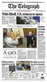 <i>The Telegraph</i> (Nashua, New Hampshire) Daily newspaper in Nashua, New Hampshire