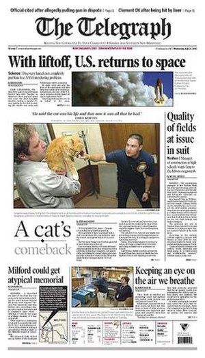 The Telegraph (Nashua) - Image: The Telegraph (Nashua, New Hampshire) front page