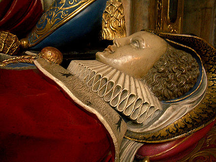 A recumbent effigy on a tomb in Westminster Abbey Tombeau @.jpg