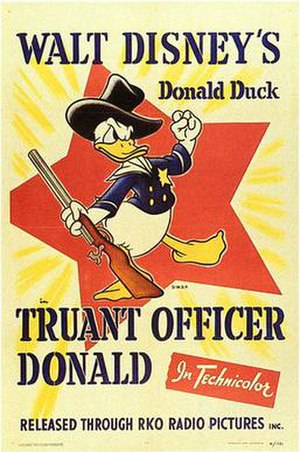 Truant Officer Donald - Theatrical release poster