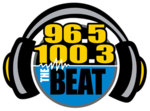 WMVN TheBeat100.3-96.5 logo.png