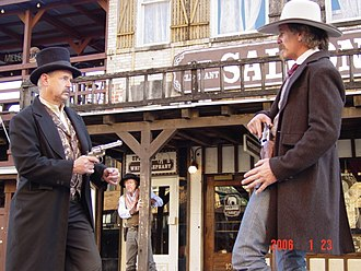 History of vice in Texas - Re-enactment of the 1887 White Elephant Saloon shootout between Luke Short and Jim Courtright