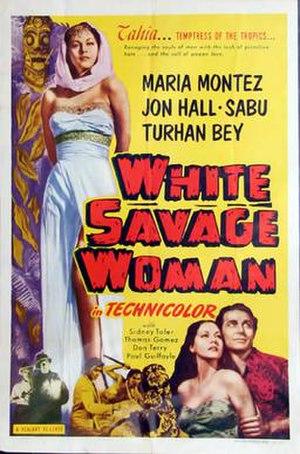 White Savage - Realart rerelease film poster