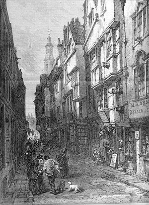 Wych Street - Wych Street, The Illustrated London News, January 1870.