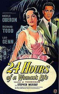 <i>24 Hours of a Womans Life</i> 1952 film by Victor Saville