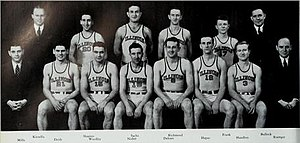 1938–39 Illinois Fighting Illini men's basketball team - Image: 1938 39 Illinois Fighting Illini men's basketball team