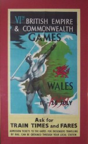 1958 British Empire and Commonwealth Games - Original poster from the 1958 British Empire and Commonwealth Games