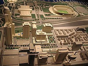 Central Station, Chicago - Image: 20070122 Central Station Model from Museum Campus Sales Center