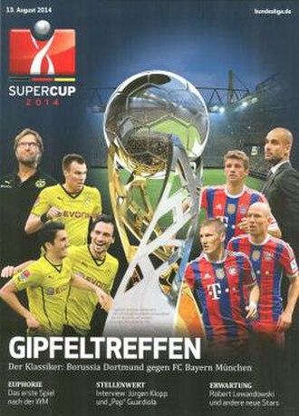 2014 DFL-Supercup - Image: 2014 DFL Supercup programme