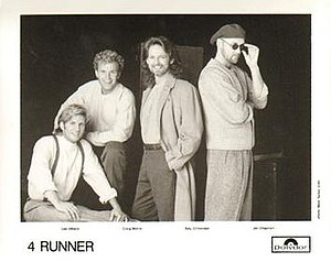 4 Runner - Promotional picture of 4 Runner, 1995. L-R: Lee Hillard, Craig Morris, Billy Crittenden, and Jim Chapman.