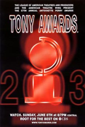 57th Tony Awards - Official poster for the 57th annual Tony Awards