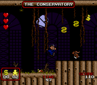 The Addams Family (video game) - Players control Gomez Addams and play through various locations of the mansion.