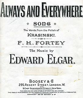 Always and Everywhere song composed by Edward Elgar