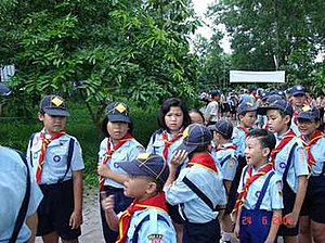 Vietnamese Scout Association - Boys and girls can be seen together in one Scouting unit in Vietnam
