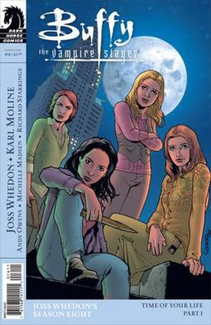 Kennedy (Buffy the Vampire Slayer) - Vi, Kennedy, Buffy and Willow in the variant cover of Time of Your Life part 1
