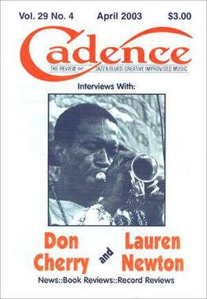 Cadence Magazine - Cadence Vol. 29 No. 4, cover dated April 2003