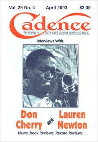 Cadence (magazine) - Cadence Vol. 29 No. 4, cover dated April 2003