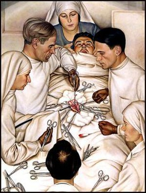 Christian Schad - Appendectomy in Geneva (1929)