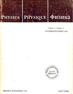 <i>Physics Physique Физика</i> Scientific journal, 1964-1968