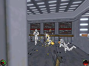 Star Wars Jedi Knight: Dark Forces II - A battle with Imperial stormtroopers