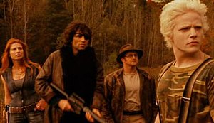 Deathlands: Homeward Bound - From left to right: Jenya Lano, Vincent Spano, Cliff Saunders, Nathan Carter