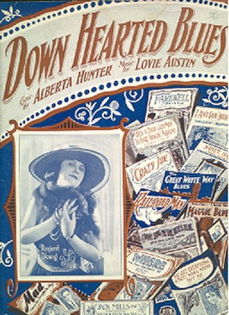 Downhearted Blues - Image: Down Hearted Blues sheet music cover