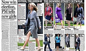 "2014 British cabinet reshuffle - The Daily Mail's infamous ""Downing Street Catwalk"" feature"