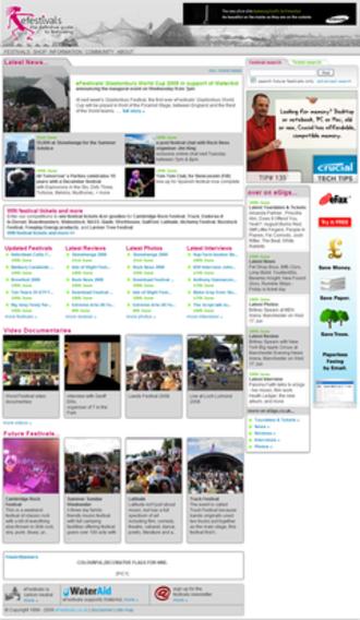 EFestivals - Image: Efestivals screen