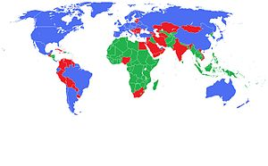 A map of the worlds first, second and third wo...