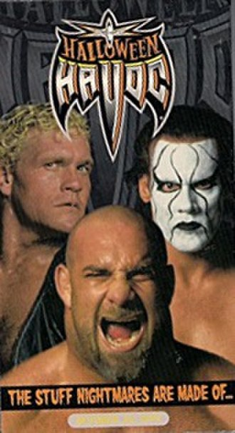 Halloween Havoc (1999) - VHS cover featuring Sid Vicious, Sting and Goldberg