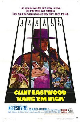 Hang 'Em High - Film poster by Sandy Kossin
