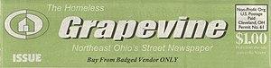 Homeless Grapevine - The masthead of the Homeless Grapevine