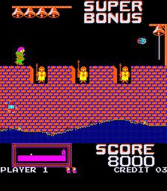 Hunchback (video game) - Image: Hunchback screenshot