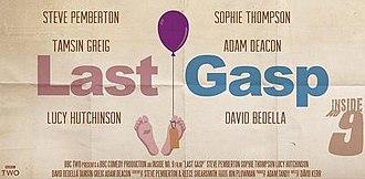 "Last Gasp (Inside No. 9) - The poster for ""Last Gasp"", designed by Matt Owen"