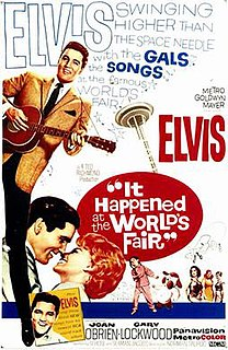 <i>It Happened at the Worlds Fair</i> 1963 musical film starring Elvis Presley directed by Norman Taurog