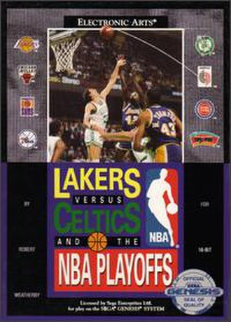 Lakers versus Celtics and the NBA Playoffs - Box art