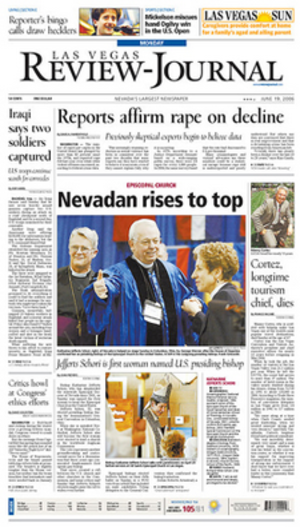 Las Vegas Review-Journal - June 19, 2006 front page of the Las Vegas Review-Journal