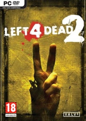 Left 4 Dead 2 - The UK version of the box art shows the back of the hand facing away to avoid offense