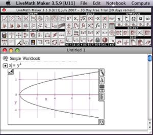 LiveMath - Image: Live Math screen snap