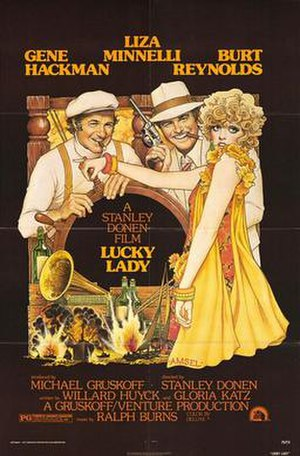 Lucky Lady - Theatrical poster by Richard Amsel