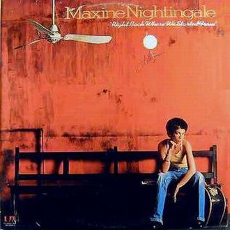 Right Back Where We Started From (album) - Image: Maxine Nightingale Where we started from