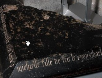 Michelle of Valois - Part of Michelle's tomb